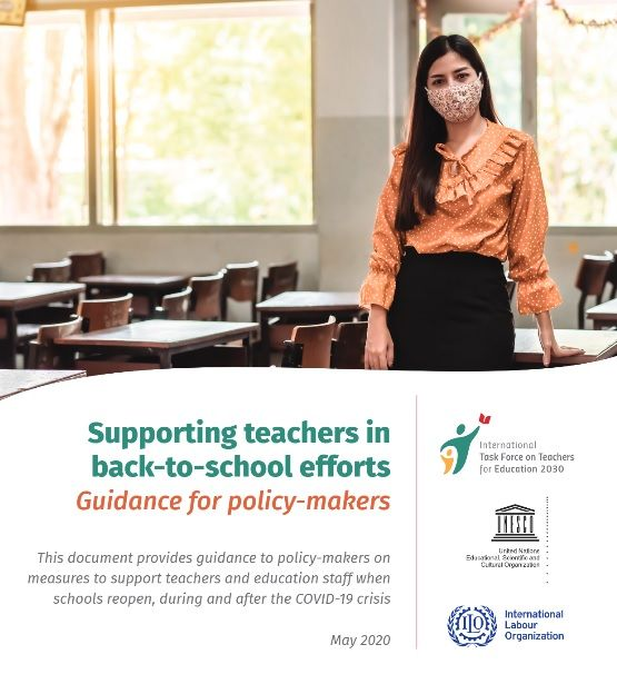 Not only is it important to support teachers during school closures, but also during re-openings. @UNESCO & @ilo have prepared guidelines to support policy-makers in designing back-to-school policies and developing school reopening procedures. https://t.co/BgiQp92yQU https://t.co/KrvxrDRQGB