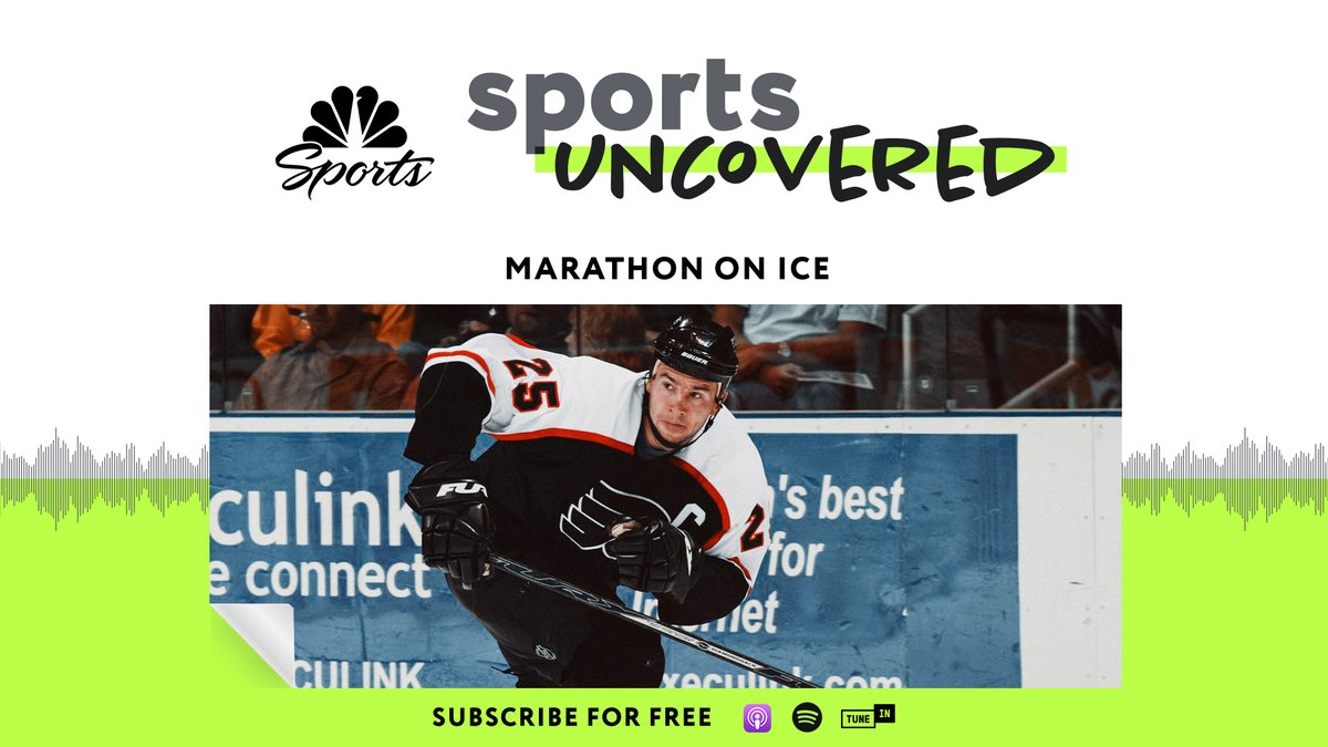 Episode 4 of #SportsUncovered is LIVE! Voice: @marczumoff @miketirico Producers: @imBenBerry @joe_fordyce @mmurrayNBCS @_travishughes Guests: @BrianBoucher33 @ctherien6 @BoyleNBCS @MBarkannNBCS @espnSteveLevy @JimJPhilly @nufced Listen here: link.chtbl.com/MarathonOnIce