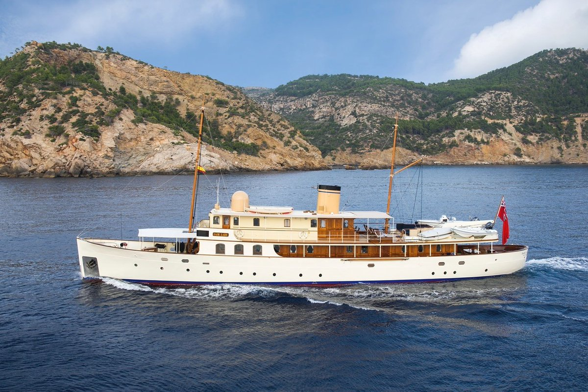 FAIR LADY, an exquisite 36.9m (121.1ft) yacht built in Britain in 1928, is coming home for the summer. Cruise the Scottish Isles this summer and combine your charter with a stay at Laudale House as part of the ultimate #staycation. https://t.co/vHfPjUl4po https://t.co/YtWpdyYXCL