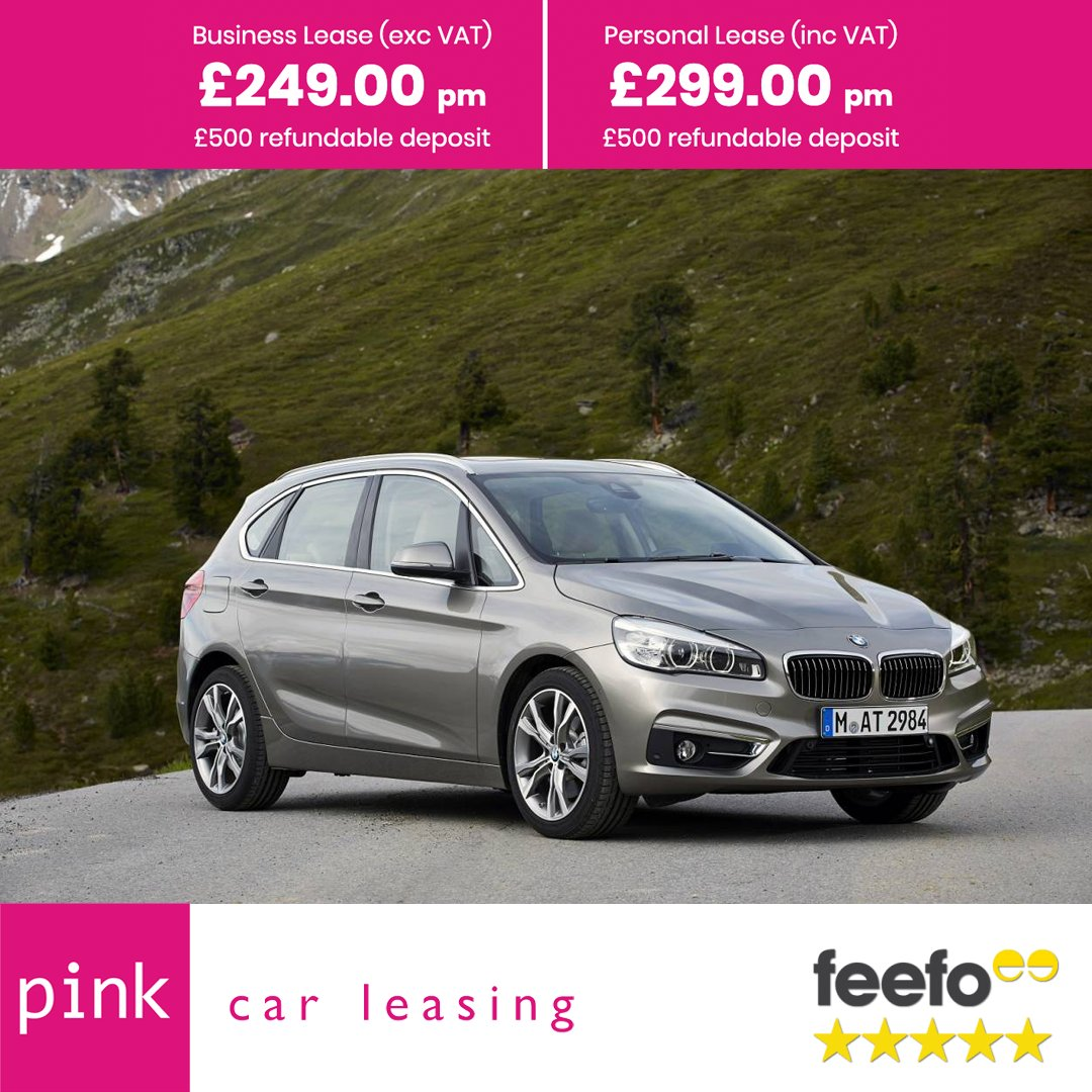 F L E X I L E A S E BMW 2 Series Active Tourer 225xe 5 Door 1.5 Phev M Sport Auto Business Lease: £249.00 p/month (exc VAT) Personal Lease: £299.00 p/month (inc VAT) Min 3 Month - Max 12 Month Pre Owned More info 👉 bit.ly/2Z4wLkf *Subject to Credit Approval*