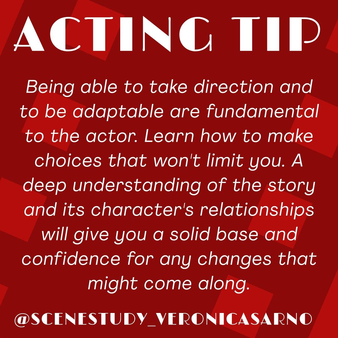 #actingtips #actingtip #takedirection #beingdirected #totheactor #actroslife #actorswork #tipsforactors #actorstip #acting #actors #actingstudies https://www.instagram.com/p/CB3FCoyp0MT/?igshid=15jm5w26ixuf8…pic.twitter.com/T6GCMLDO9r