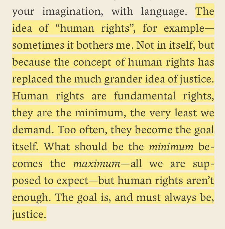 "Arundhati Roy on why the idea of ""human rights"" troubles her."