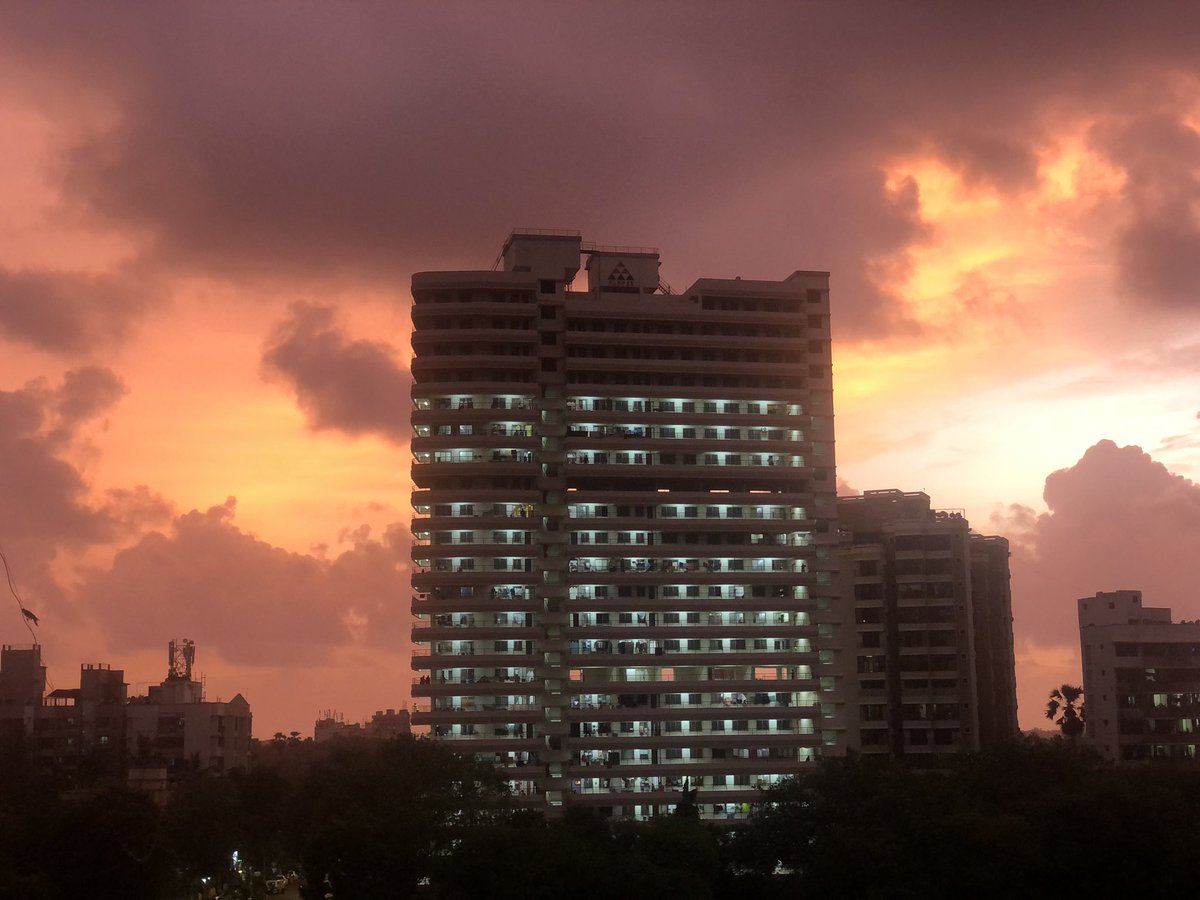Nothing can beat the canvas painted by nature. Outside my house right now. #Mumbai