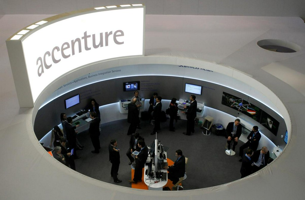 Accenture beats revenue estimates on digital push, shares rise