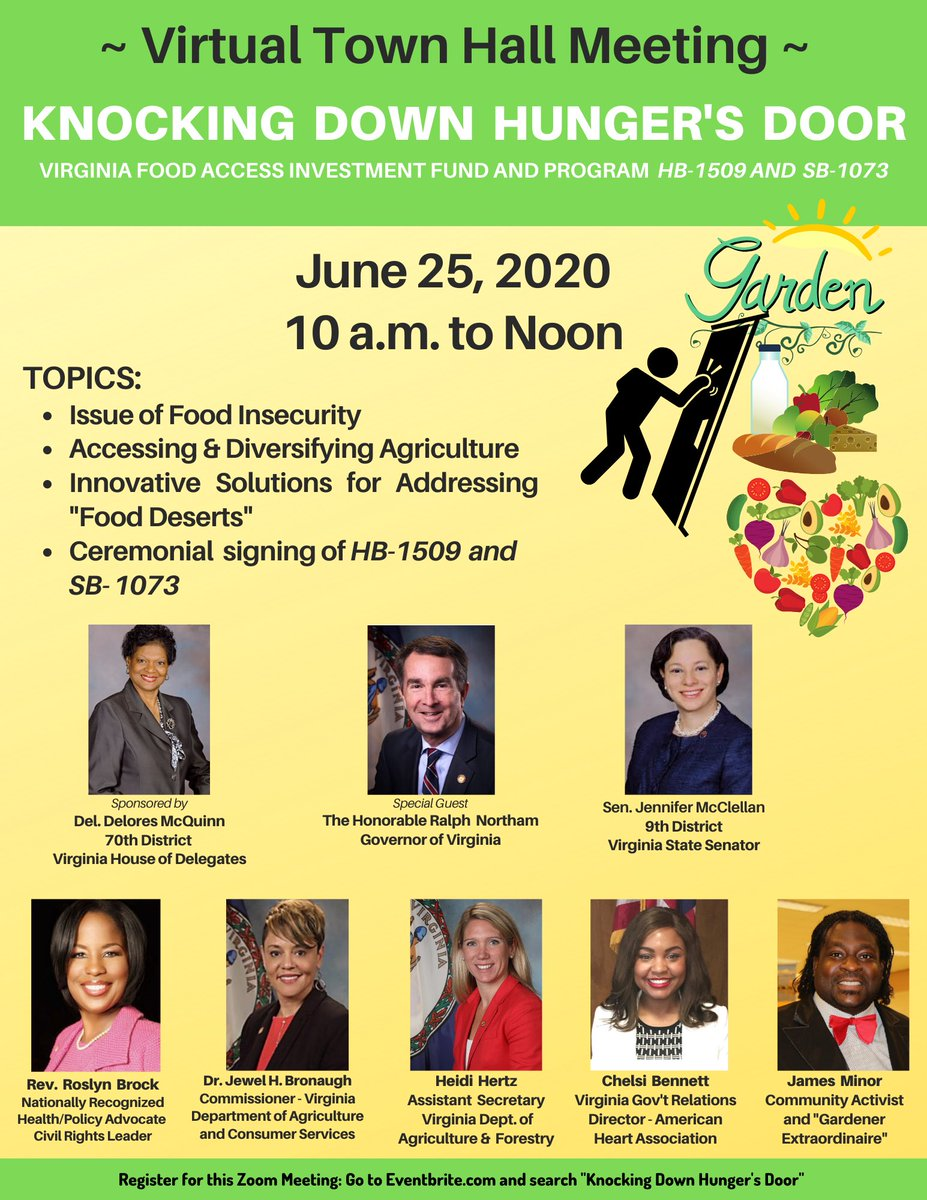 Excited to join @DeloresMcquinn for this important conversation this morning about food access.