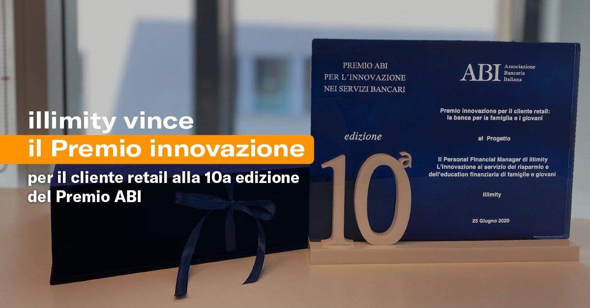 Alla 10ª edizione del premio @ABI_Lab, #illimity si aggiudica il riconoscimento dedicato all'innovazione per i clienti retail grazie a un progetto che evolve la relazione delle persone con la banca in modo integrato, semplice e smart: https://t.co/uXrZK5ZWSa https://t.co/qM99MhktOV