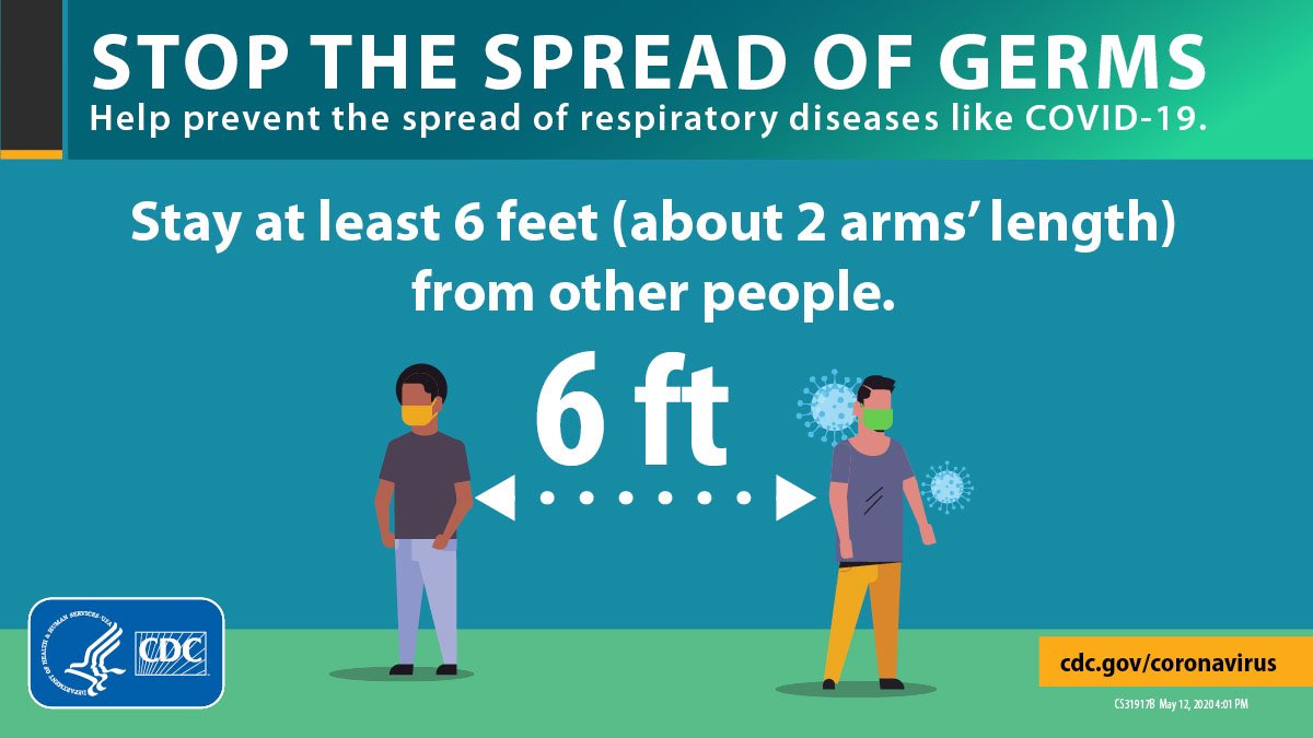An effort every #Texan can join in on. 👇🏼 ✔️Stay 6 ft apart ✔️Wear a mask ✔️Stay home if you feel sick Together, we can #StoptheSpread of #COVID19 🇺🇸 For ways to stay safe, visit: @TexasDSHS Website: dshs.state.tx.us/coronavirus/