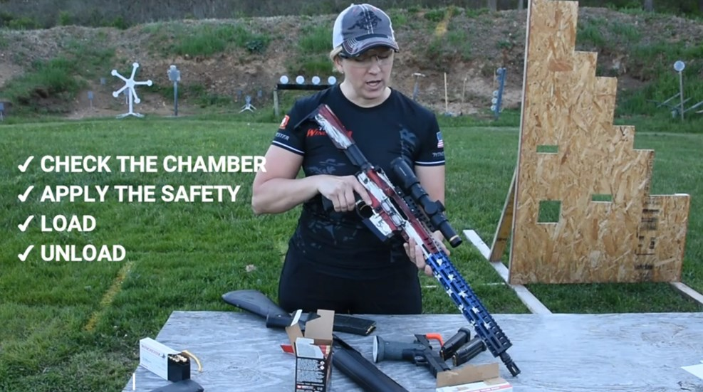 RT @nrawomen: New to guns? Competitive shooter Becky Yackley can give you a tutorial on how to safely load and unload a variety of firearms! https://bit.ly/Un10ad pic.twitter.com/EKVqnvPLKo