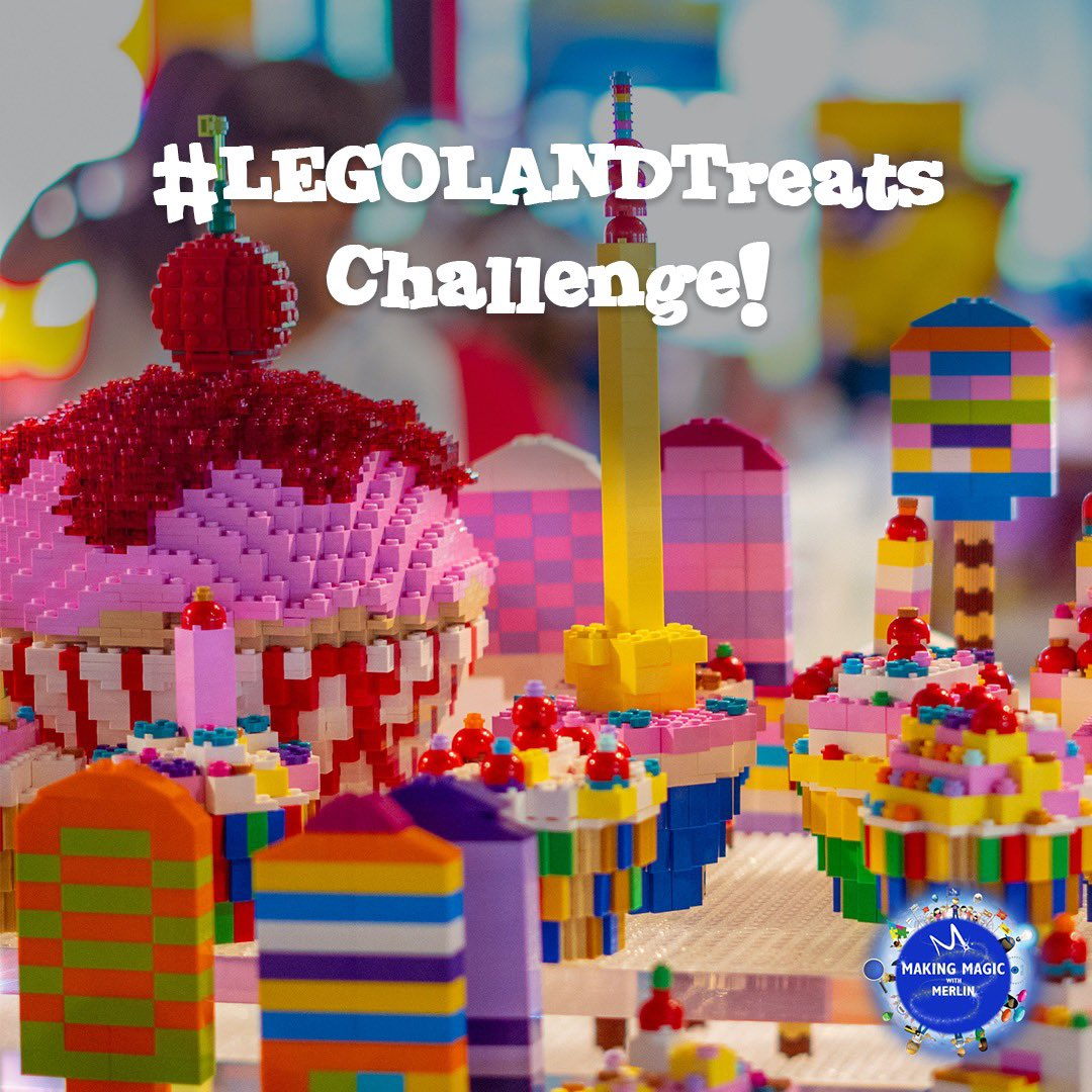 Do you love sweets as much as we do? We want you to build your favourite #LEGOLANDTreats at home using your LEGO bricks! Are you in the mood for a cupcake or ice cream? We can't wait to see your AWESOME LEGO builds! #MakingMagicwithMerlin https://t.co/oHdwdUNPIv