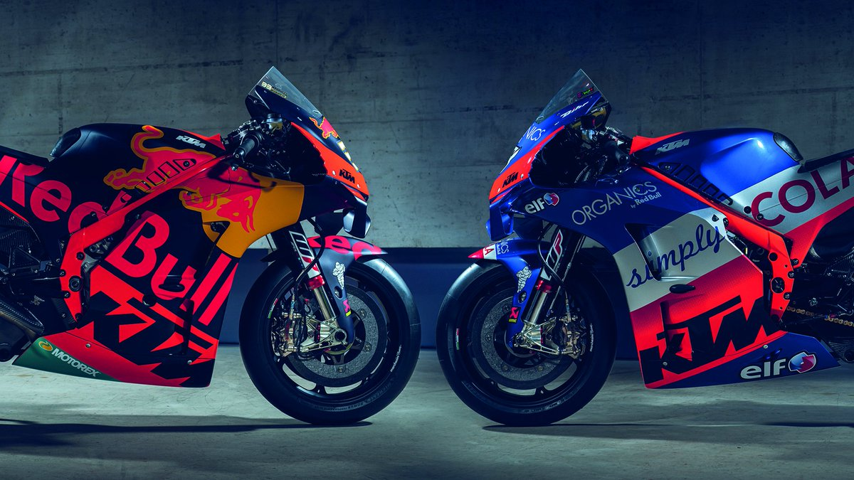 #MotoGP | Red Bull #KTM gets energized for 2021! Read all about the new four-rider line-up - all on works KTM RC16s - for next season right here: press.ktm.com/news-red-bull-… #readytorace @redbullmotors @Tech3Racing