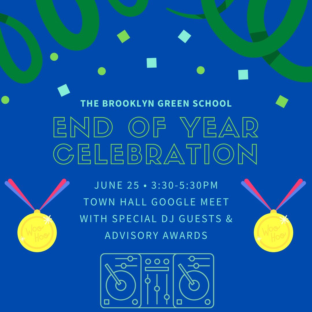 Today (starting at 3:30) we will celebrate all our scholars with special DJ guests and awards from their advisors!  #bkgawards #awardsceremony #endoftheyear #schoolyear2020 #restorativecircles #advisorypic.twitter.com/VDJCRxaPiO