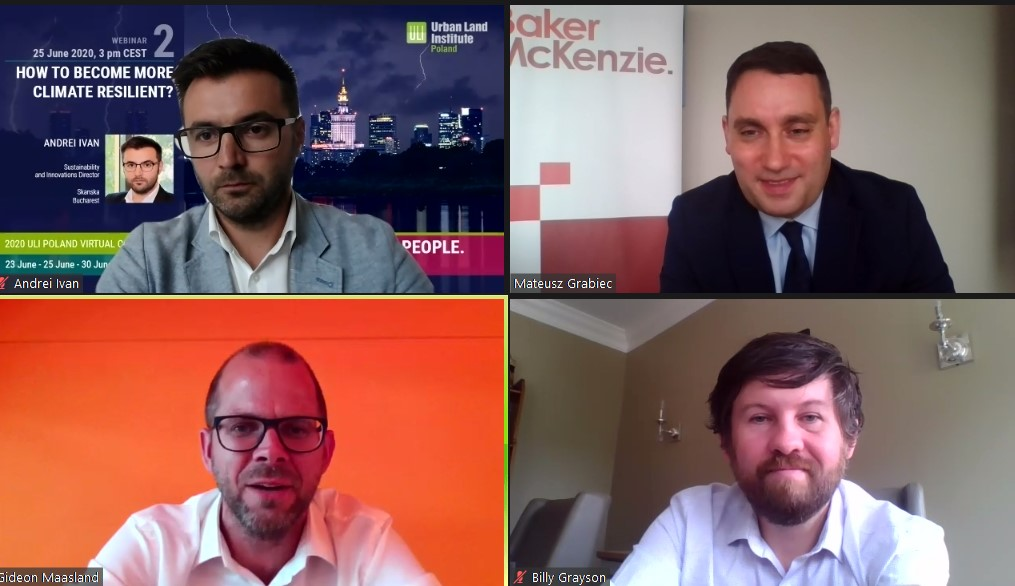 In light of the pandemic our 2nd webinar experts from @UrbanLandInst, @SkanskaGroup, @MVRDV and @BakerMcKenzie addressed both the need for #climate change solutions and a growing interest among investors to incorporate #resilience and climate risks to their real estate portfolios https://t.co/UkP48049Af