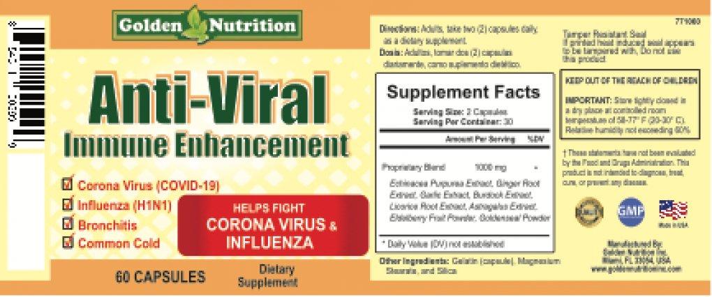 Golden Nutrition Inc. Recalls Anti-Viral Immune Enhancement Because Labels Are Not in Compliance https://t.co/FKKdczDWMS https://t.co/T5QLWyz0du