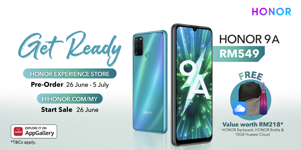 Besar Gila #HONOR9A is ready for tomorrow first sale on hihonor and pre-order on HONOR Experience Store. Share this post if you are ready too😎 HIHONOR👉https://t.co/Gv5NSEg0Xm https://t.co/GtVxpKVWf1