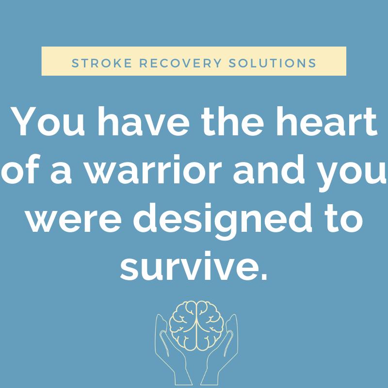Quotes stroke survivor Getting Life