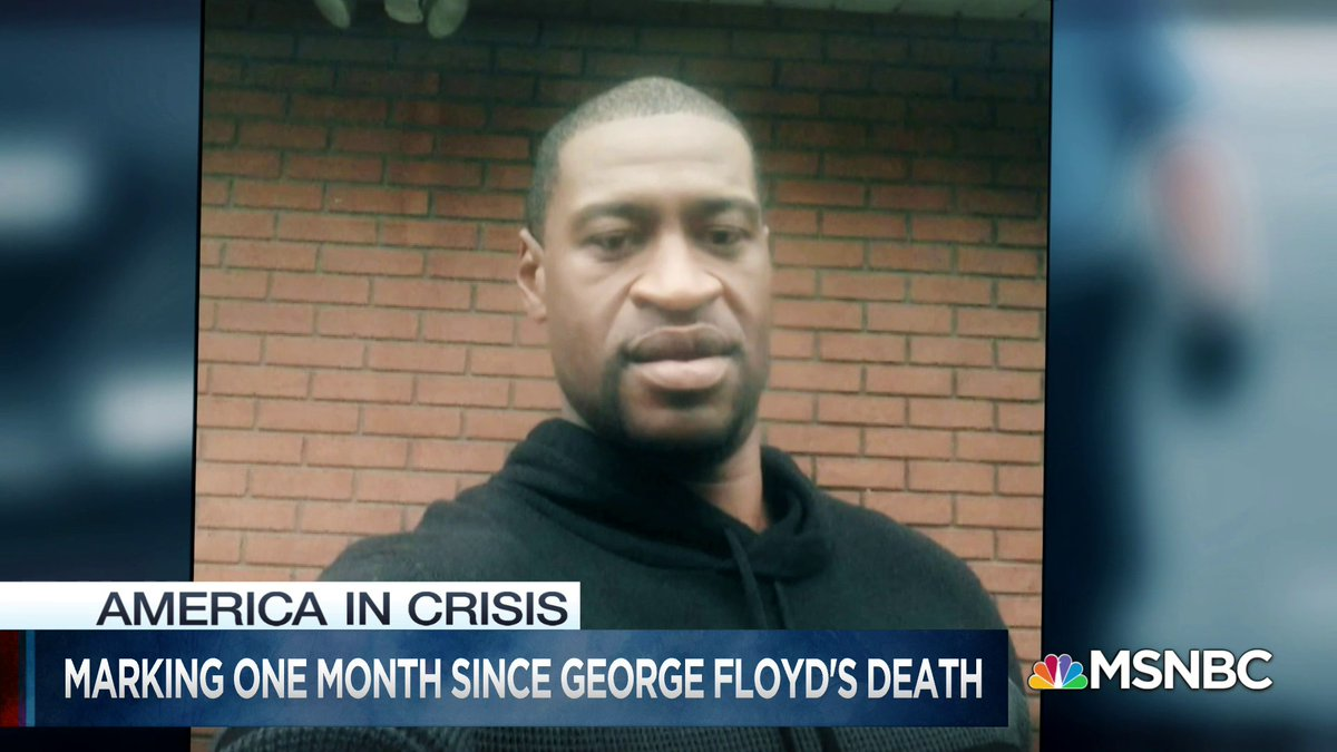 """Today marks 1 month since the death of George Floyd, @MorganRadford reports:  """"A national reckoning that has brought both chaos and change."""""""