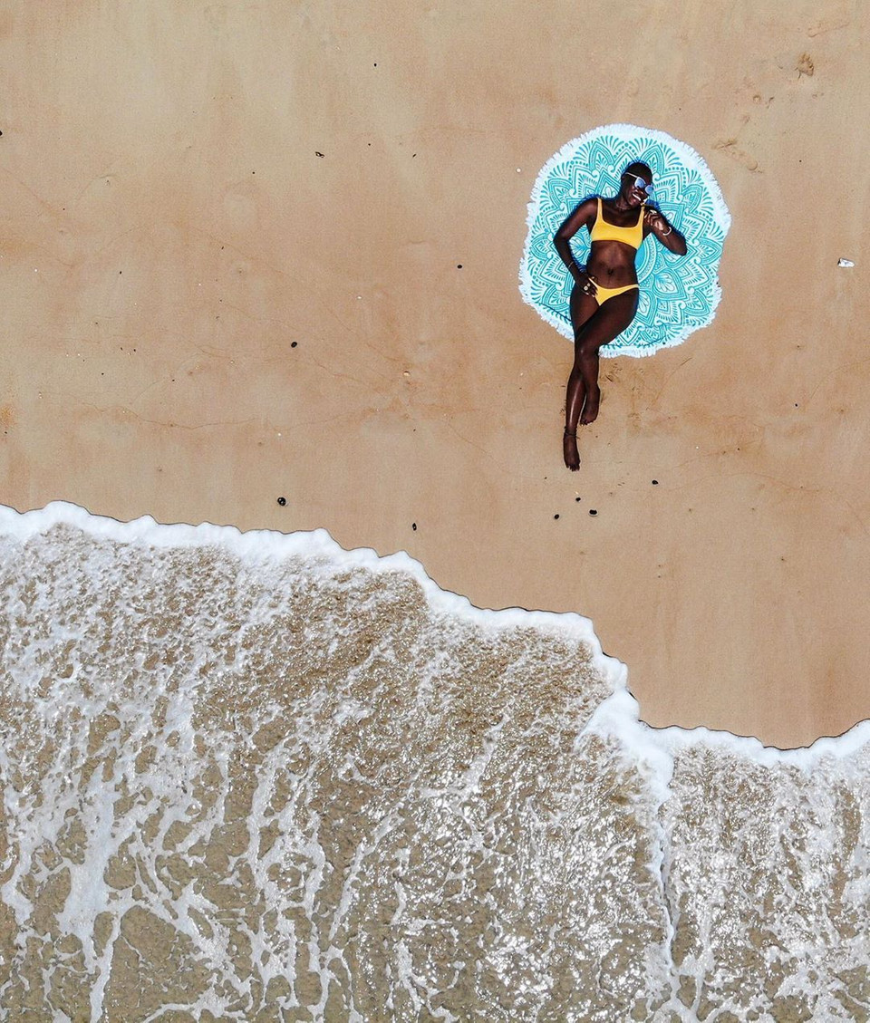 Today's dose of wanderlust comes from Jessica Nabongo, the first Black woman to travel to every country, whose adventures—like here along the shores of São Tomé and Principe—make us want to explore new horizons. Photo via https://t.co/SqOmq4emMF https://t.co/TcYB9jyYro