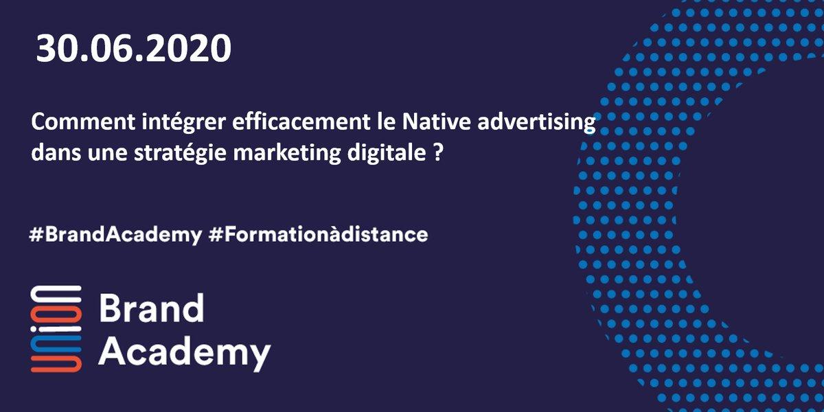 #BrandAcademy – Formation à distance : Comment intégrer efficacement le Native advertising dans une stratégie marketing digitale ?  #expertise #nativeadvertising #performance #digital  📅Mardi 30 juin de 9h30 à 11h30 👉🏻S'inscrire : https://t.co/Y9B8PVfPe1  @IABFrance https://t.co/L8oDW3uGoq