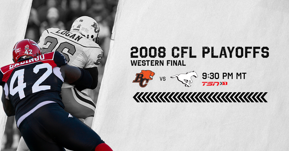 Re-live the 2008 Western Final tonight on @TSN_Sports!  Tune into this #CFLEncore at 9:30pm MT! https://t.co/Euu0CijY5o