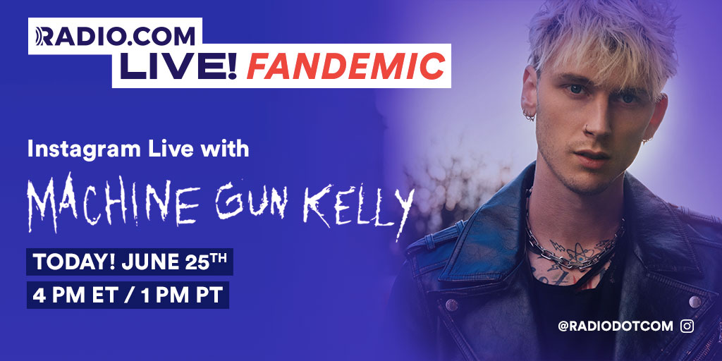 We're hanging out with @machinegunkelly later today for #FANDEMIC… Check it out on our IG Live at 4 PM EST when he answers all your questions! 🖤 https://t.co/tcLiiiWvJW