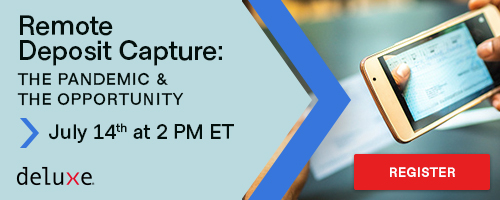 Join experts from @RDCTweet and Deluxe for a complimentary webinar to learn how Remote Deposit Capture keeps deposits flowing into bank accounts, even during the pandemic. Register here: https://t.co/U4V4rceiSi https://t.co/bpuBAke2Ib