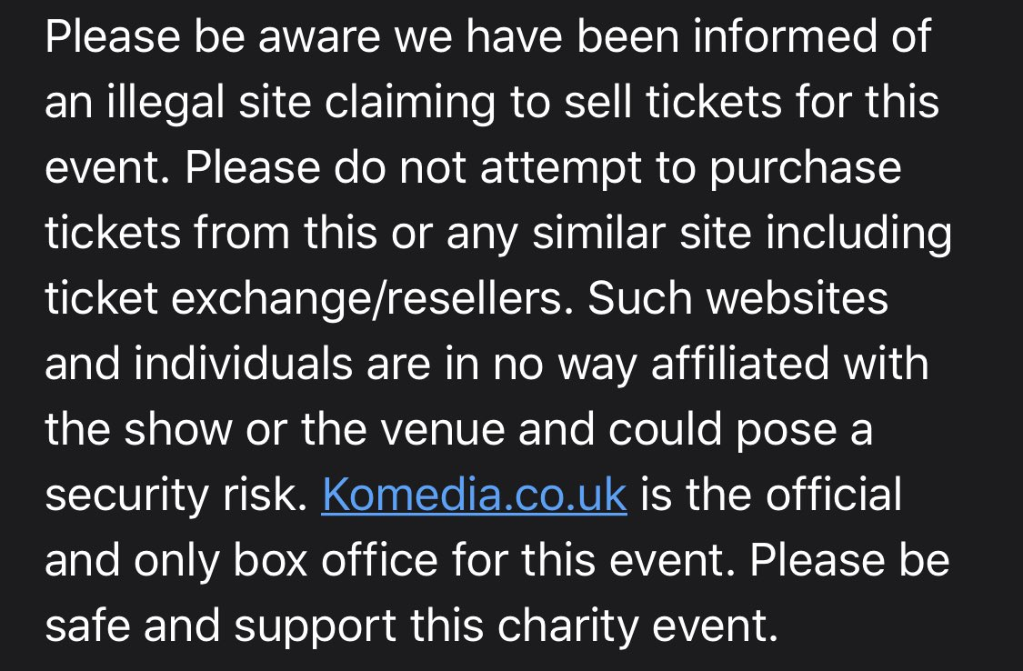 ⚠️ A warning about fake tickets ⚠️ Please read the attached statement.  EDDIE IZZARD: EXPECTATIONS OF GREAT EXPECTATIONS  LIVE ONLINE TO THE WORLD  24TH – 29TH JUNE  - The Beekeepers https://t.co/FLDRMcO8x3