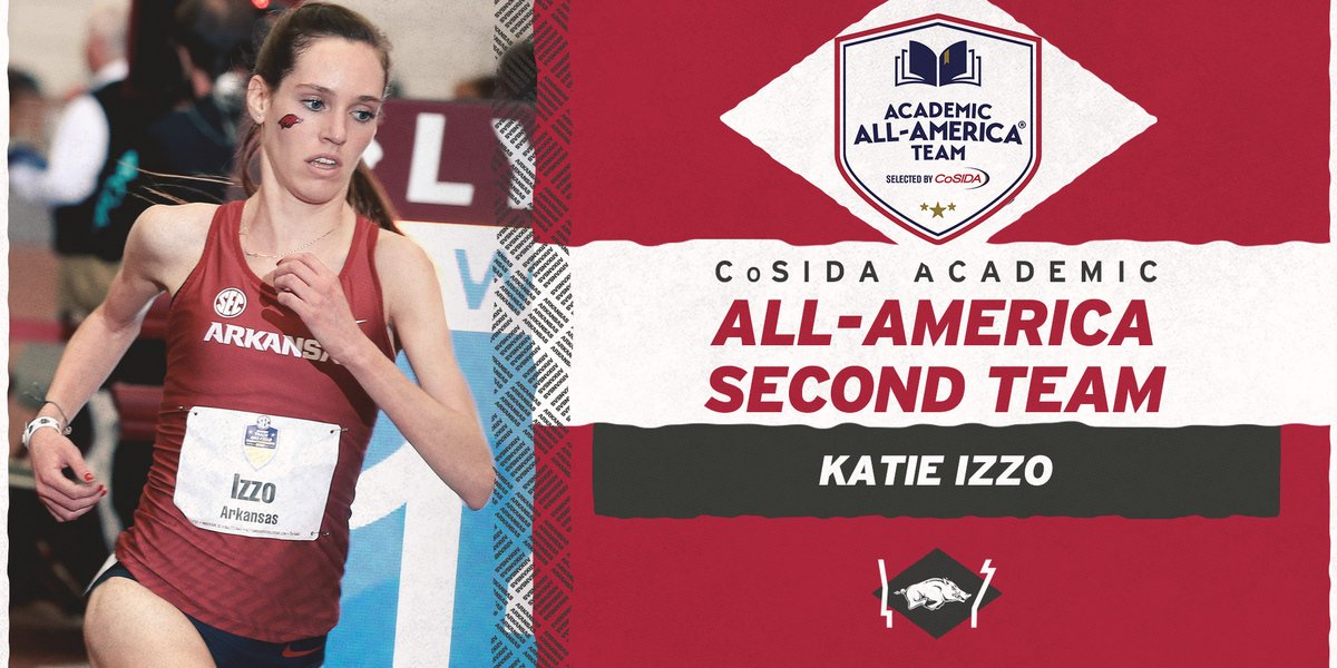 Congrats to 𝐊𝐚𝐭𝐢𝐞 𝐈𝐳𝐳𝐨 on being named to @CoSIDAAcadAA Academic All-America Second Team.  A total of 28 members of the Razorback women's program have earned 40 CoSIDA Academic All-America honors.  https://t.co/mYakpFiZ3X https://t.co/TenmtsRD9N