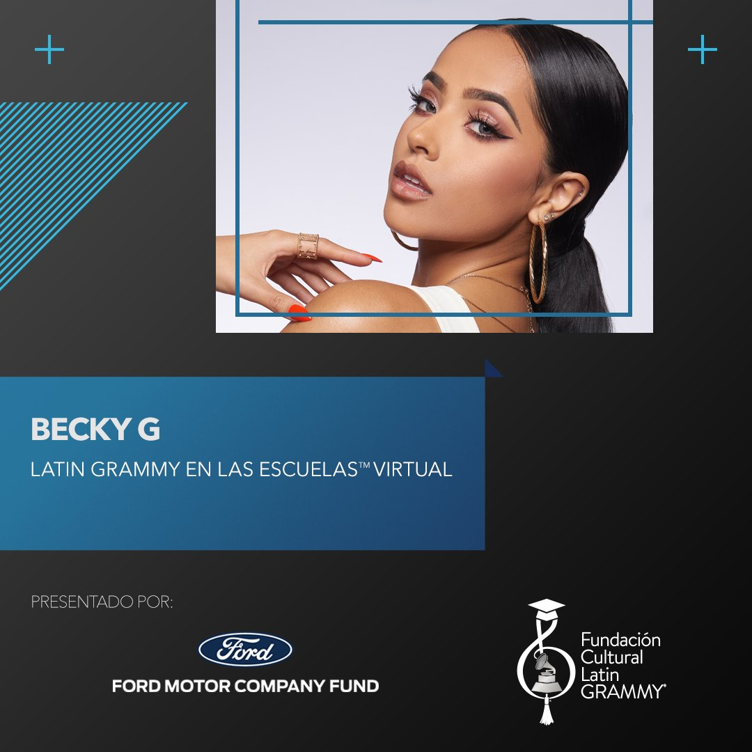 .@iambeckyg joins first-ever virtual #LatinGRAMMY In The Schools program bringing together 20 schools internationally... https://t.co/5M7BehQMW8 https://t.co/8wYxAc5f3g