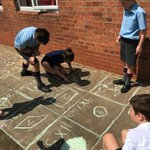 The Juniors have been enjoying doing outdoor practical Mathematics in the sunshine