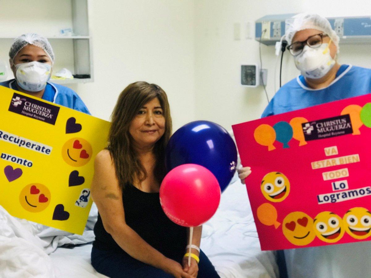 Tras varios días hospitalizados, Andrea y Carlos vencieron al #COVID19 en CHRISTUS MUGUERZA Hospital Reynosa. Hoy viven una nueva etapa al lado de su familia y muy agradecidos con quienes no los dejaron solos durante esta difícil experiencia. 🙌 https://t.co/MJ6s8hbK5W https://t.co/wwqLVNXNtr