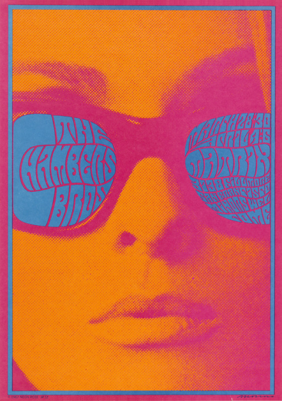 Stare into the electric blue shades of this woman's sunglasses and what do you see? Victor Moscoso designed this groovy poster for The Chambers Brothers band in 1967. #SunglassesDay  https://t.co/bbeJ5PxWQN https://t.co/siXNcfoZcE
