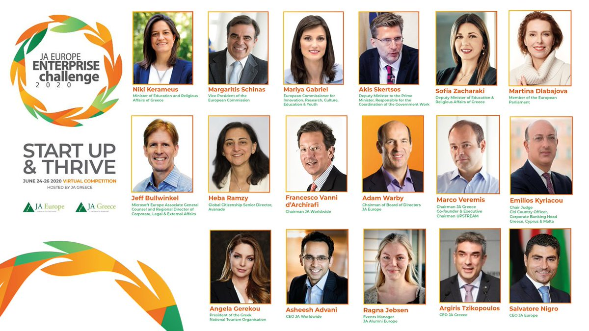 It will be a great pleasure to announce the best Start-Up in Europe together with @GabrielMariya @MargSchinas @Mdlabajova tomorrow at 2pm CET https://t.co/OmHvWoVq3h This is the EU we want for the #NextGeneration. @EU_Commission @JA_Europe @AlumniEurope https://t.co/M1FleX6ZRm