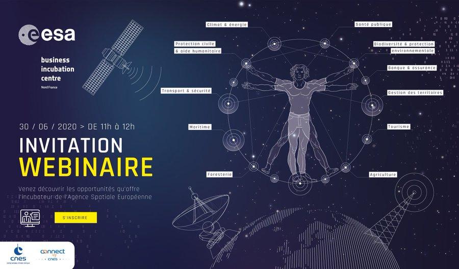 [#Webinaire @esabicnordfr ] Mardi 30 Juin de 11h à 12h : quelles sont les opportunités d' #innovation que le #spatial…
