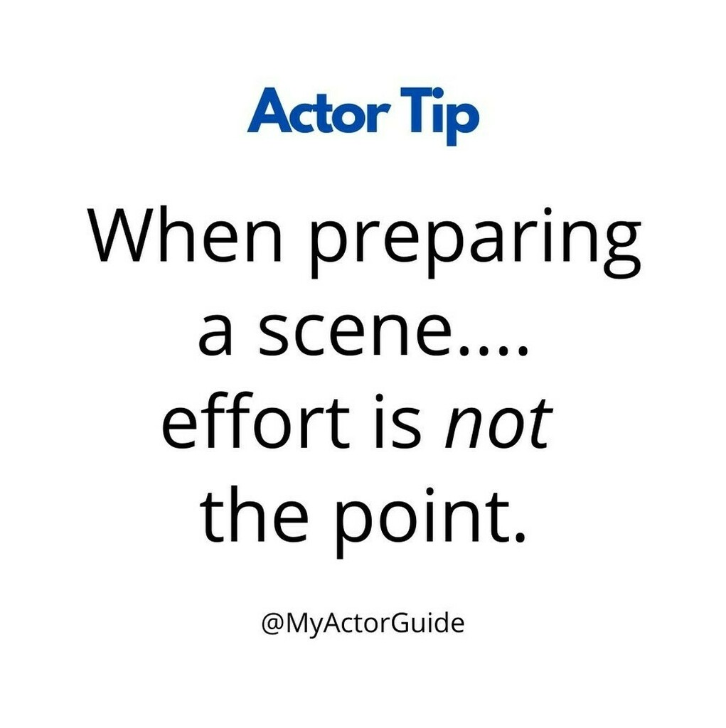 #actorslife #acting #auditions #actingtip   Just because you're struggling with it doesn't necessarily mean it's brilliant... work it out, don't stress it out!   #actor #actress #scene #audition #actingismypassion #castingdirectors #actingi… https://instagr.am/p/CB3RLDVpMDo/pic.twitter.com/pUCWxxaCMi