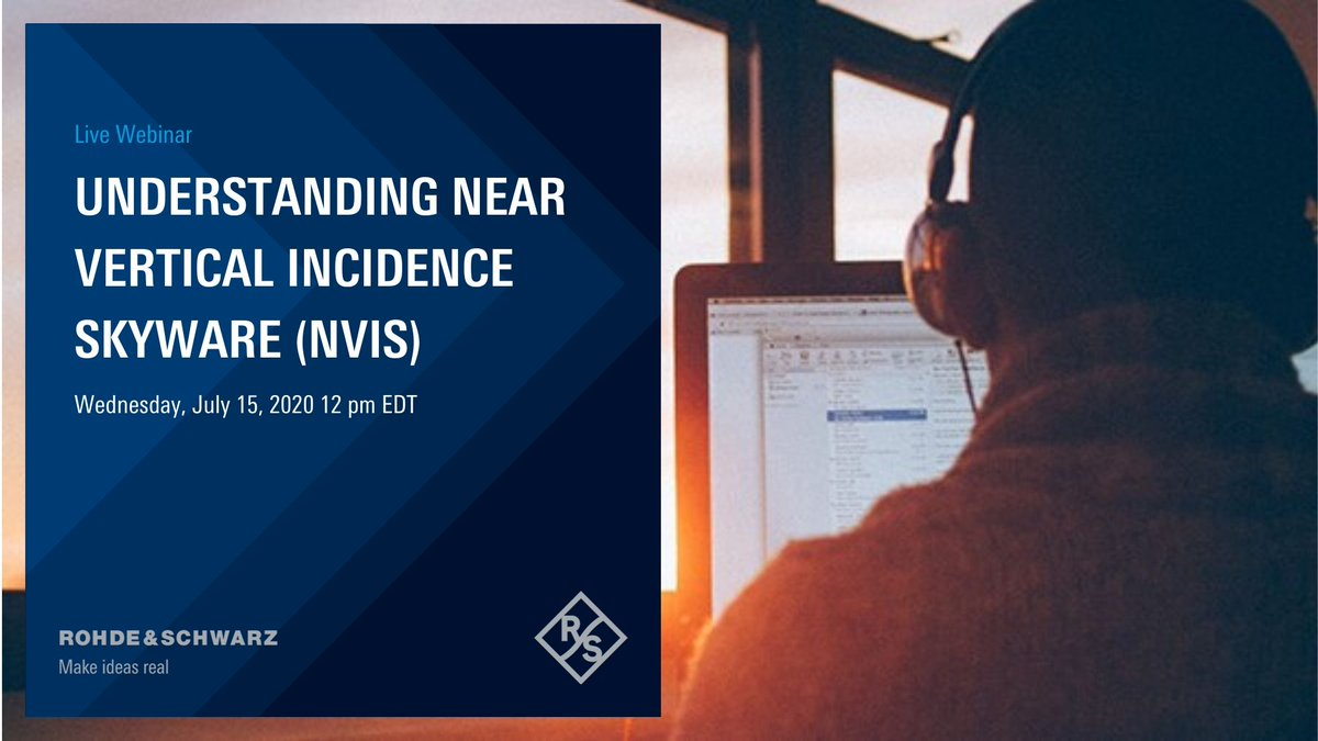 In a complimentary webinar, you will learn the fundamental concepts behind Near Vertical Incidence Skywave (NVIS) and strengths and weaknesses of #NVIS-based #HF #communications, particularly for military, disaster-relief, and ad hoc scenarios. Join us: https://t.co/9nVIODAD63 https://t.co/0pRn9oT3PU