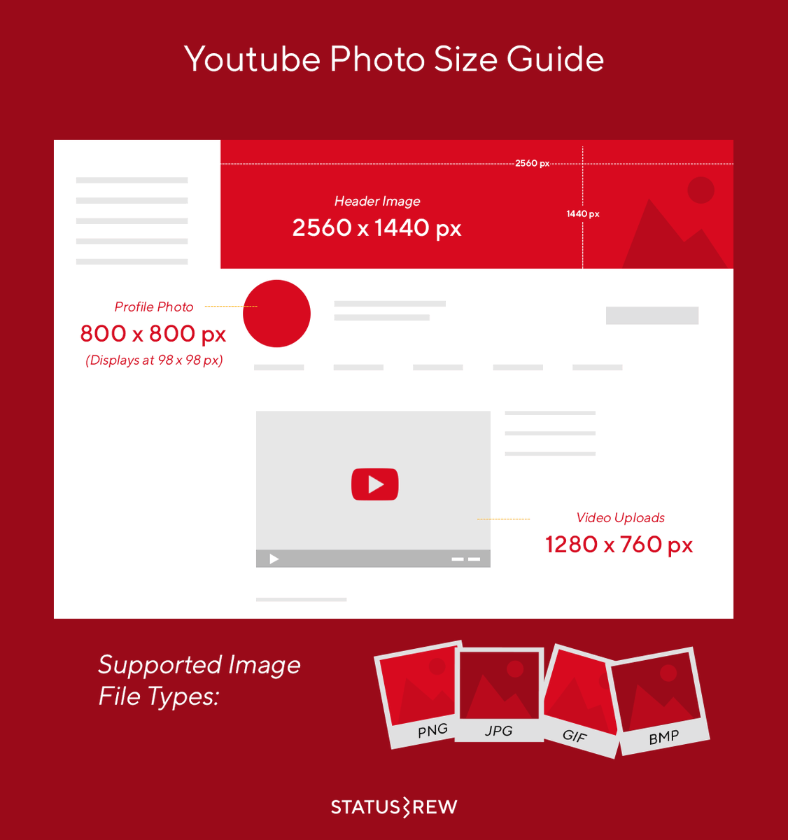 Videos are trending right now, and since they'll remain as such for years to come, YouTube is an incredible platform that more businesses should be using.  Make your #YouTube channel look incredible by using these ideal image sizes and dimensions. https://t.co/MLn8uiwxK0