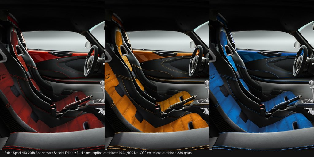 The retro-inspired interior colours of the Exige 20th Anniversary Special Editions. https://t.co/OgBGkPZt8J #ForTheDrivers #Exige20thAnniversary⠀ https://t.co/IIm7V7Oftd