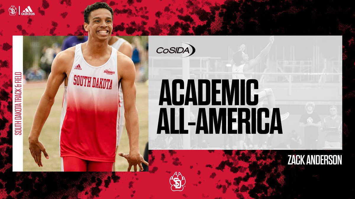𝑊𝑒𝑙𝑙 𝑑𝑒𝑠𝑒𝑟𝑣𝑒𝑑. 👏  Congratulations to @zcanderson24 on 𝗿𝗲𝗽𝗲𝗮𝘁𝗶𝗻𝗴 as CoSIDA Academic All-America for the second-straight season!  📰: https://t.co/nh7V2oz17n  #GoYotes | #WeAreSouthDakota 🐾 https://t.co/nd4xtBhwKn