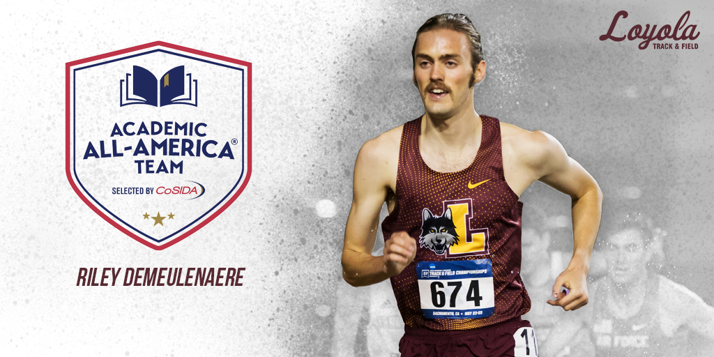 Congratulations to @RileyDeMeulenae on being named @CoSIDAAcadAA! DeMeulenaere is the third Academic All-American in program history!   🗞️ ➡️ https://t.co/ZKmv0Agwhy  #OnwardLU #MVCTF #MVCXC https://t.co/URvqlf5EWI