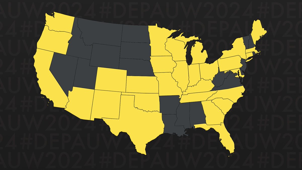 Our Class of 2024 comes from sea to shining sea... (1/2)  #DePauw2024 https://t.co/8GmCgUNINm