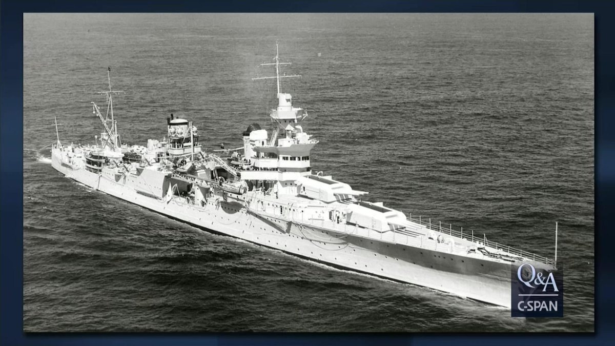 On this day 75 years ago, the USS Indianapolis was torpedoed and sunk by a Japanese submarine. This resulted in one of the deadliest naval disasters in U.S. history. View videos linked below to learn more about its mission and sinking. c-span.org/classroom/docu… #history #OTD