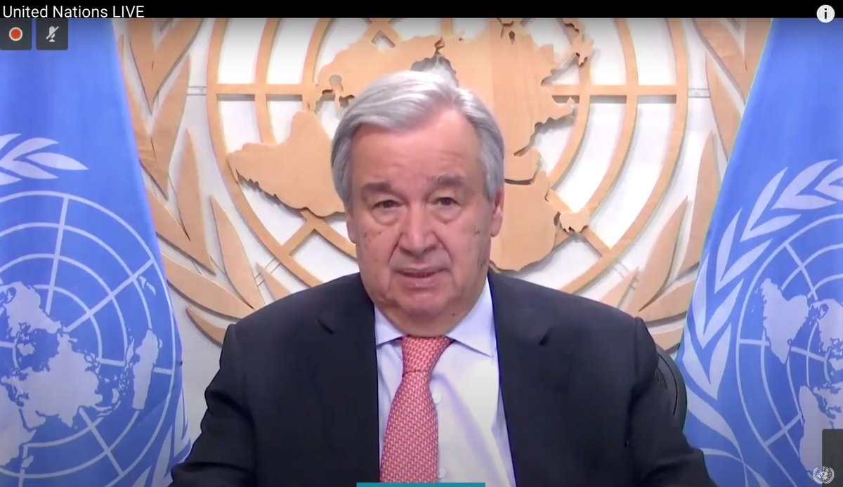 """""""There's no good reason for any country to include coal in its #COVID19 recovery plans. This is the time to invest in energy resources that don't pollute & cause emissions, generate decent jobs & save money."""" - @antonioguterres on building back better. un.org/en/coronavirus…"""