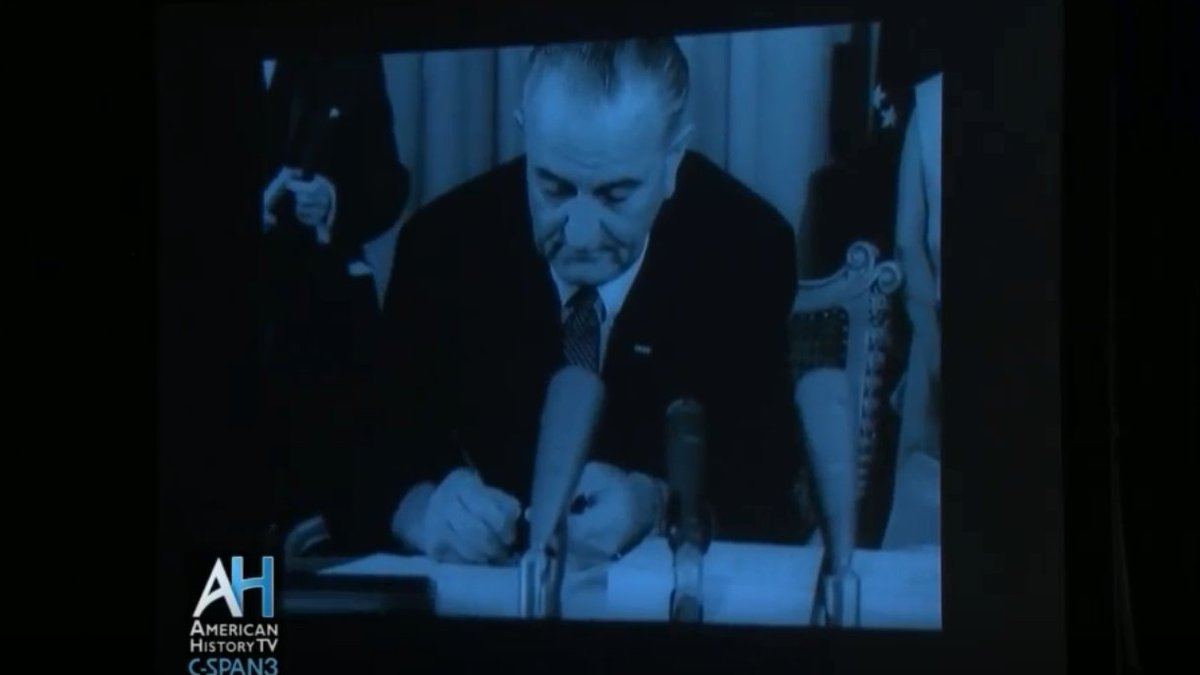 #OTD President Lyndon B. Johnson enacted the Social Security Amendments which included the two crucial programs of Medicare and Medicaid. Learn more about these programs using the videos linked below. c-span.org/classroom/docu…