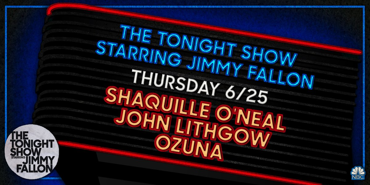 Tonight on #FallonAtHome: @SHAQ, @JohnLithgow, & music from @ozuna! Plus, a special appearance from @ddlovato! https://t.co/KHA3hvO4IF
