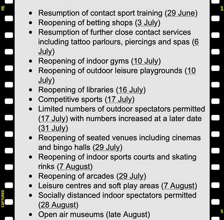 From Bingo to gyms .... the timetable for unlocking N Ireland ... 📍