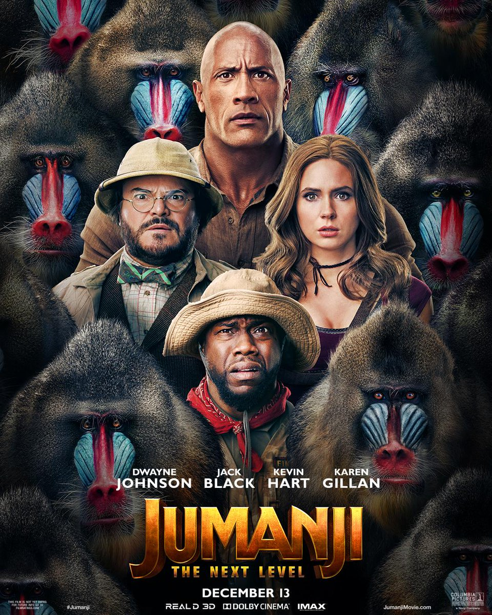 Two adventures. One great week. Starting TOMORROW, catch Jumanji The Next Level and Raiders of the Lost Ark on the big screen! Showtimes and tickets here: https://t.co/gO2BbWLQqR https://t.co/YtMpWK2Bjg