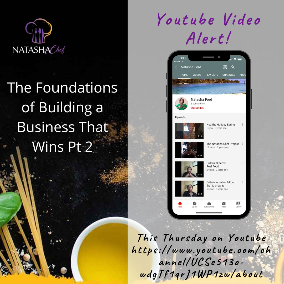 Youtube Video Alert! It is so important to take the time to write and follow that business plan. It gives you guidance and direction in building a solid foundation #natashachef #businessonwner #liveplanpro #smallbusinessowner #womanbusinessowner #success #entrepreneurship.pic.twitter.com/PhZGiNxm0d