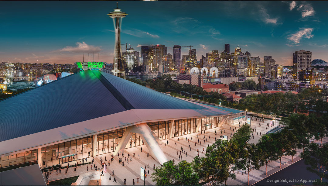 """The fabulous, amazing & transformational """"Climate Pledge Arena""""-in the heart of America's 36th Legislative District-is the fine print of the globe's first net zero arena, setting a new sustainability bar for commercial construction worldwide.@JeffBezos @amazon_policy @NHLSeattle_"""