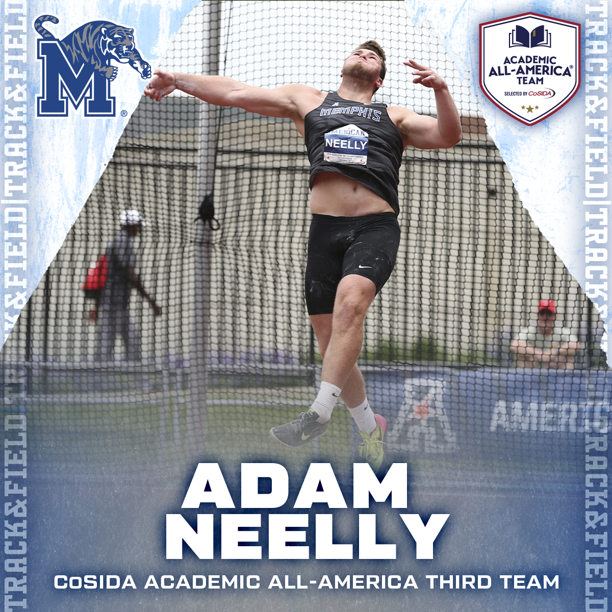 Congrats to @AdamNeelly on his selection to @CoSIDAAcadAA's third team! @MemTigersTF_XC has eight @CoSIDAAcadAA picks the last four years. #GoTigersGo  Release: https://t.co/T86wIRf4uS https://t.co/VZZzC9ZKMk