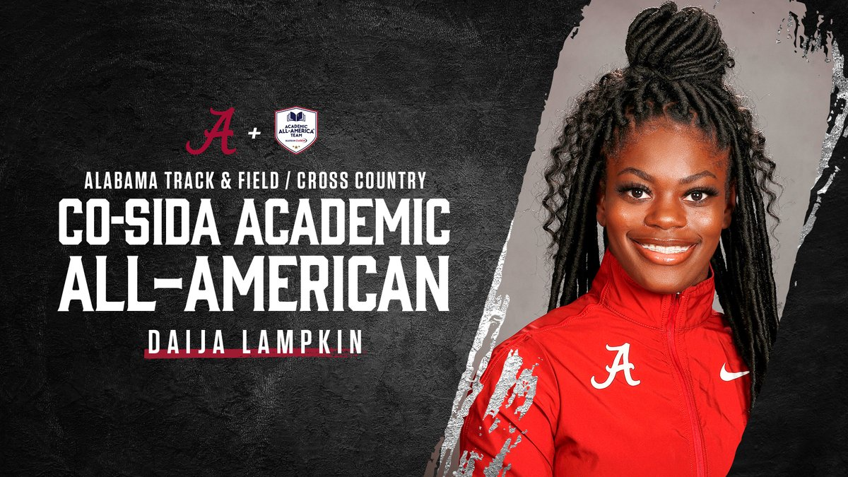 This season marks the 11th-consecutive year that at least one member of the @AlabamaTrack program has earned a place on the @CoSIDAAcadAA squad.   Overall, 15 members of the program have now earned the honor 23 times.  #ClassroomChampions #RollTide https://t.co/RTu9u9Jm8m